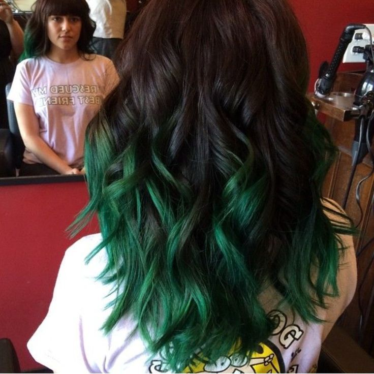 I'll probably do this once my hair gets longer. Love green on me