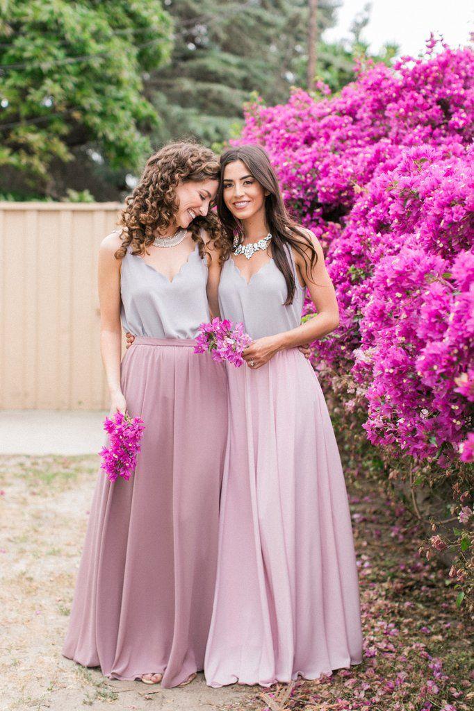 Kelly Chiffon Mauve Full Maxi Skirt   Pinterest