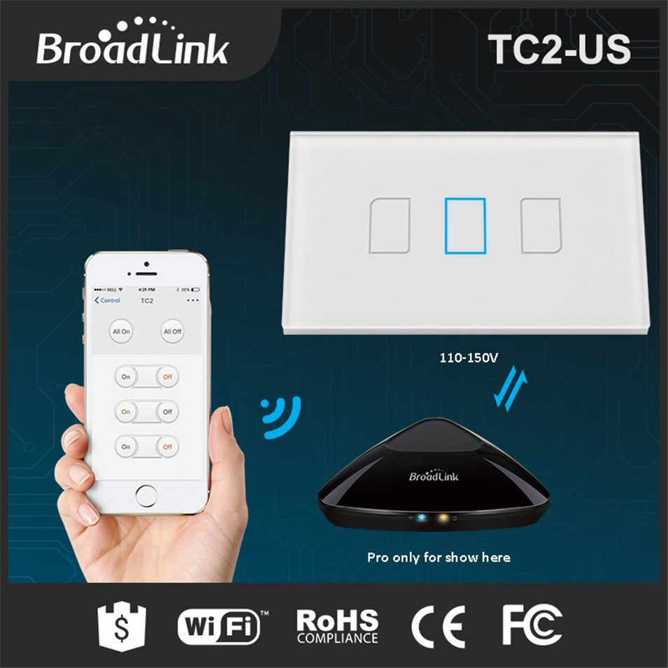 Broadlink TC2 3 gang 1 Way US/AU Type, Smart Home Domotica Wifi ...
