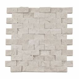 Pearl Stacked Stone Brick Marble Mosaic Tile  Model: S32100197  $8.99sf at Floor & Decor   Size: 1in. x 2in.