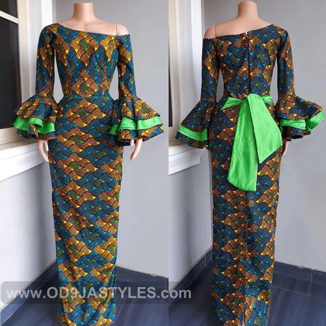 1cdead8b628 35 ULTRA-MODERN ANKARA STYLES FOR WEDDING OCCASION  LONG GOWN STYLES 2019 - Ankara  Styles - Ankara gown styles