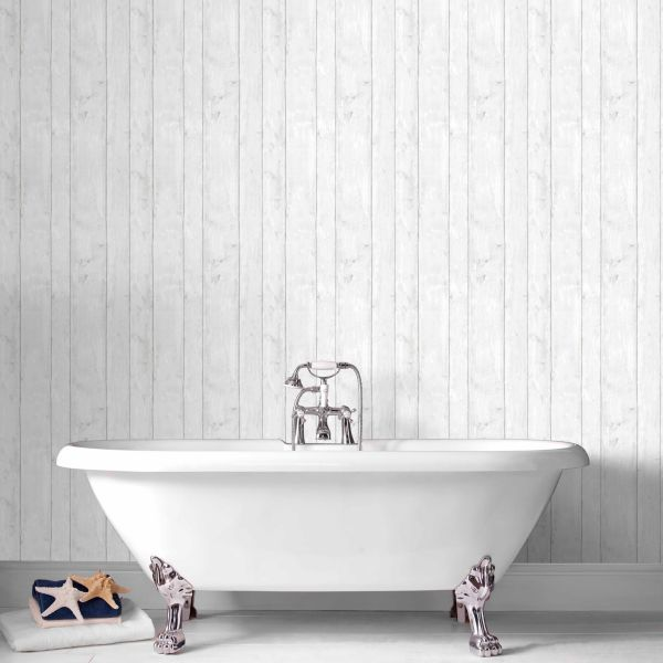 Wood Effect Wallpaper Will Add A Completely Different Dimension To Your Bathroom Wood Effect Wallpaper Grey Wood Diy Wallpaper