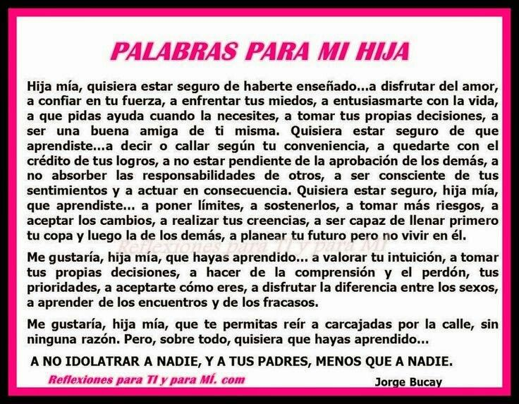 Palabras para mi hija love pinterest mother daughter for Menaje por mayor