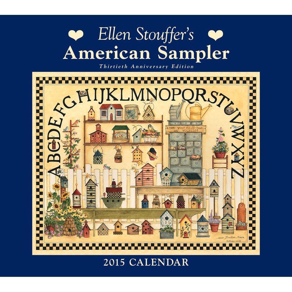 Sampler Stouffer Wall Calendar | Artwork and Artist