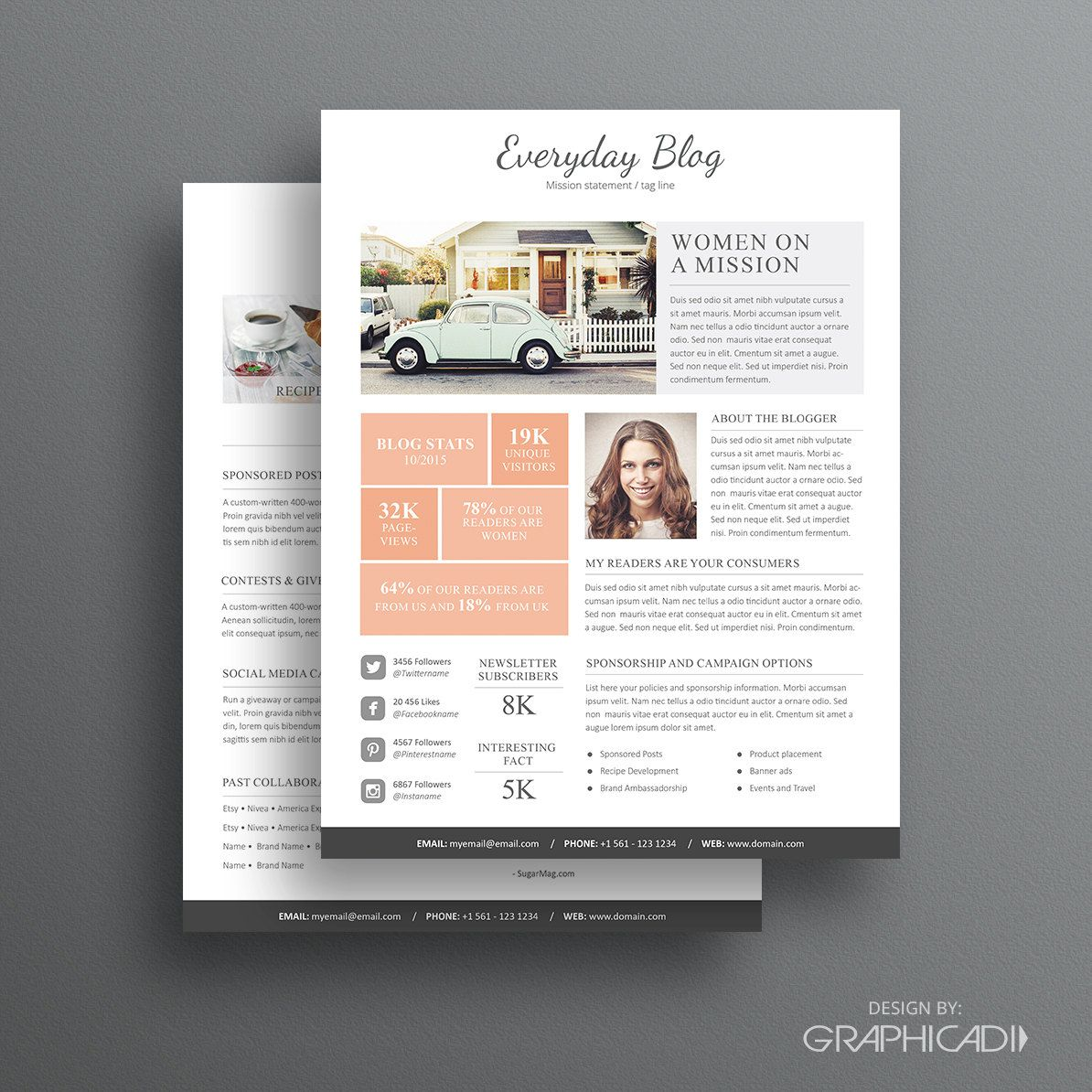 Media Kit Template 08 2 Page Media Kit Template Ad