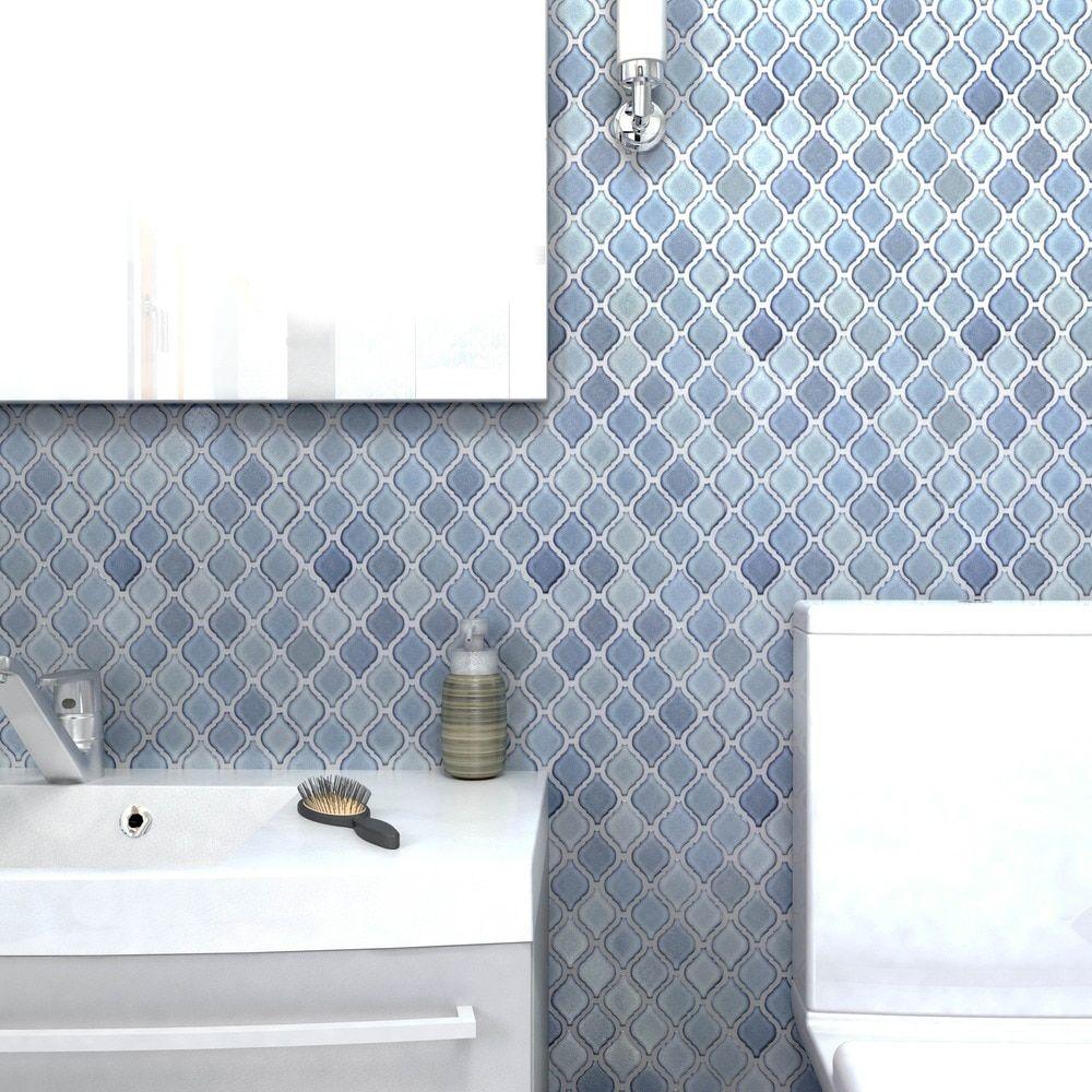 SomerTile 9.875x11.125-inch Casablanca Orion Porcelain Mosaic Floor ...