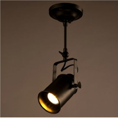 Close To Ceiling Lights Inspiration Single Spotlight Led Close To Ceiling Light In Black Finish Decorating Inspiration