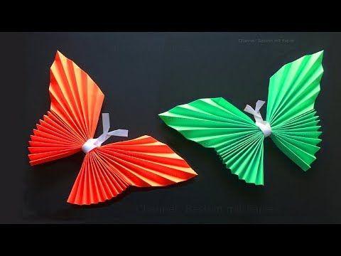 Great Origami Schmetterling basteln mit Papier Origami Tiere falten DIY Wanddeko Bastelideen Geschenk