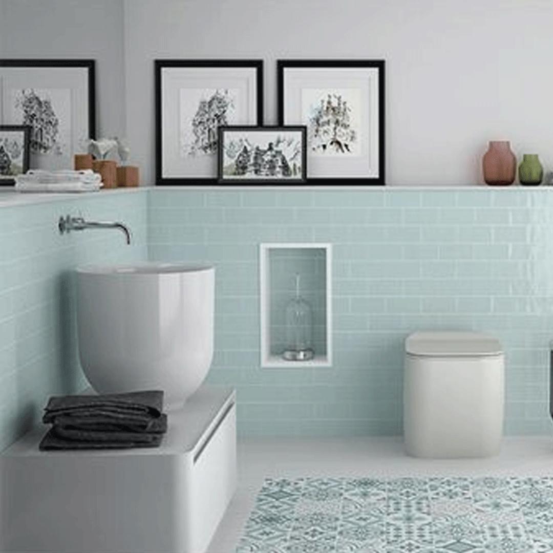 Mint im Badezimmer in 20   Badezimmer neu gestalten, Badezimmer ...