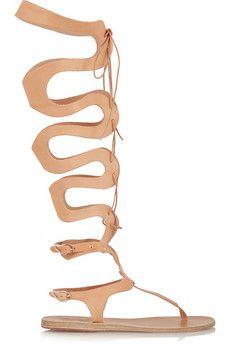 Ancient Greek Sandals Kori lace-up leather sandals   NET-A-PORTER