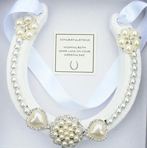 Lucky HorseShoe Real Bridal Wedding Gift IVORY WHITE S