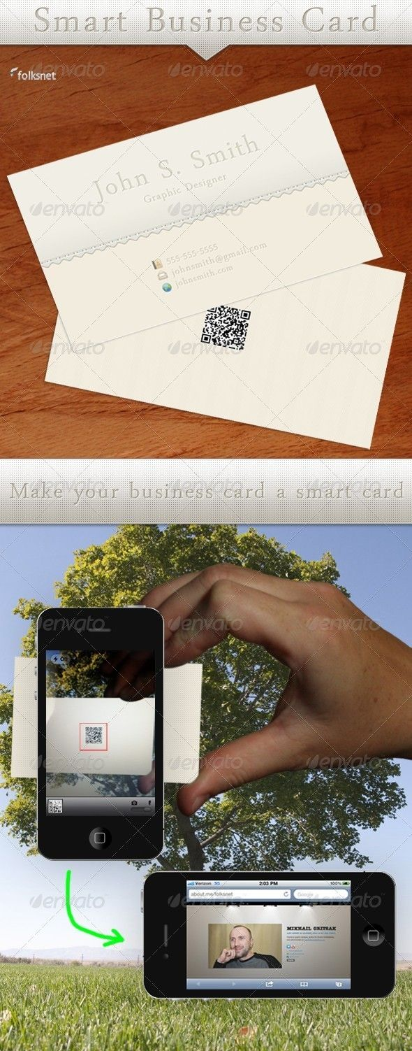 Smart Business Card | Business cards, Business and Fonts