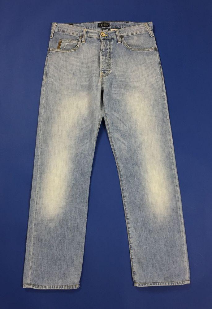 quality design a19aa 603e6 Armani jeans uomo usato gamba dritta slim W33 tg 47 blu ...