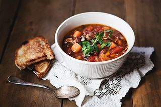 Image result for vegetarian mixed bean soup Pinterest