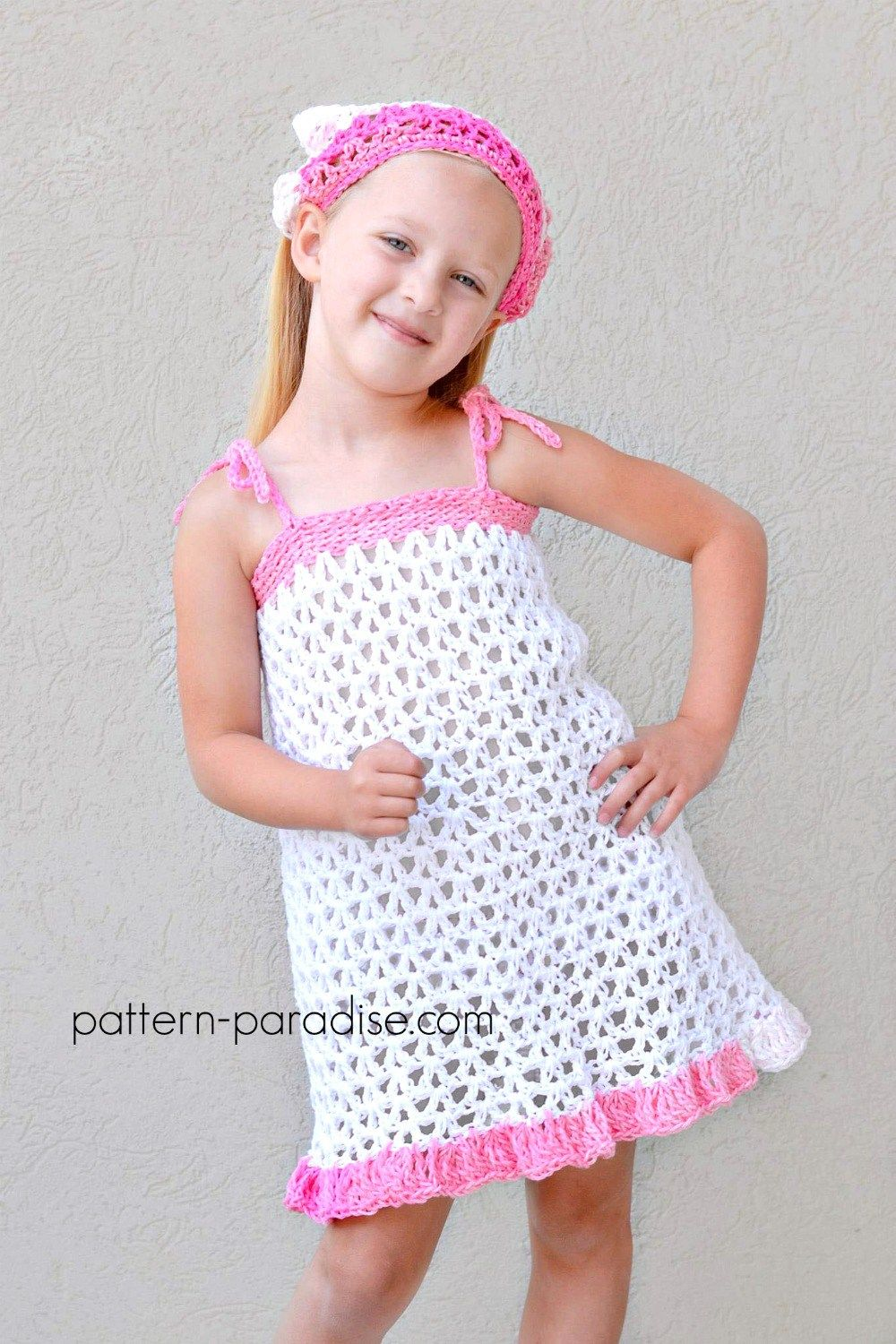 Free Crochet Pattern: Summer Cheer Dress and Kerchief Set