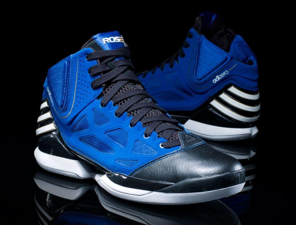 info for 90bdb c8c13 adidas adiZero Rose 2.5 Black Blue   Adidas, Rose and Mens gear