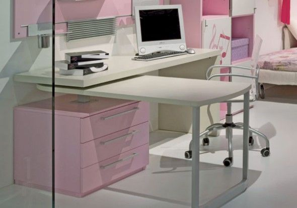 Outstanding Minimalist And Stylish L Shaped Student Desk Of ...