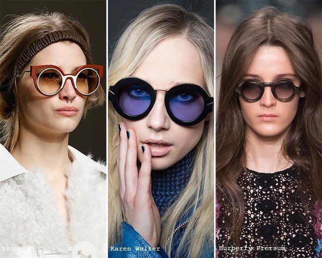 fe8e90b70 Fall/ Winter 2015-2016 Eyewear Trends: Round Sunglasses   Eyewear ...