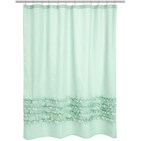HM Shower Curtain EUR21 Liked On Polyvore Featuring Home Bed