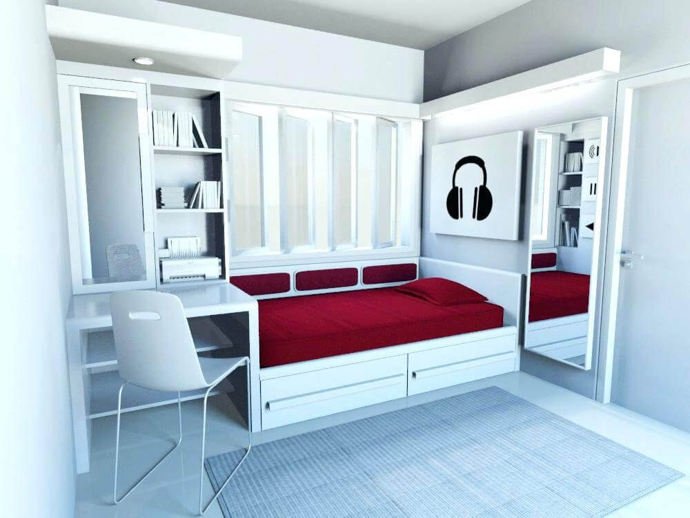 Some Of The Best Single Bed Designs To Have In Your Home Small Studio Apartment Decorating Women Bedroom Design Woman Bedroom