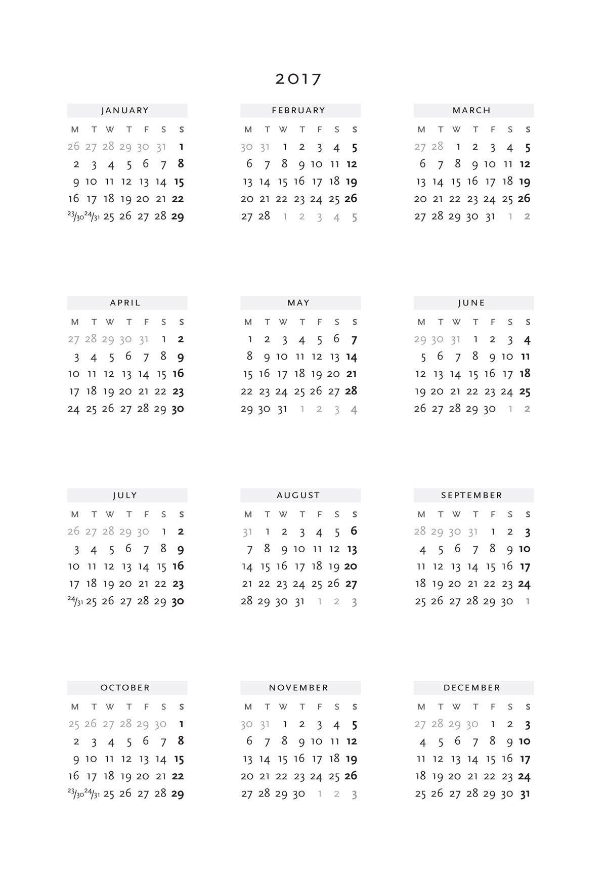 about Printable Calendar