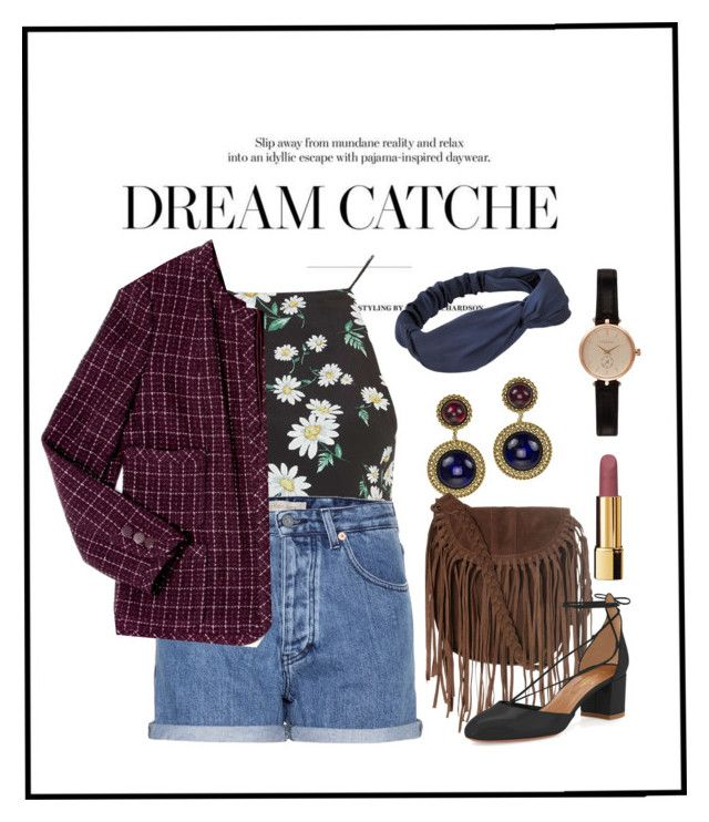 """Untitled #144"" by mathildejohannessen ❤ liked on Polyvore featuring moda, Topshop, Calvin Klein Jeans, Chanel, Glamorous, Barbour, Aquazzura y preowned"