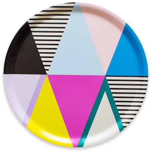Triangle Kitchen Design: Graphic Triangles Birchwood Tray