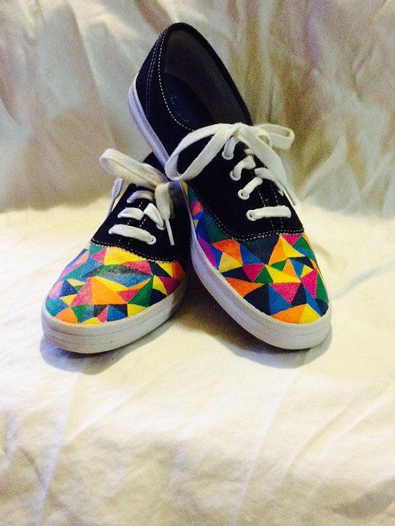 multi coloured vans shoes