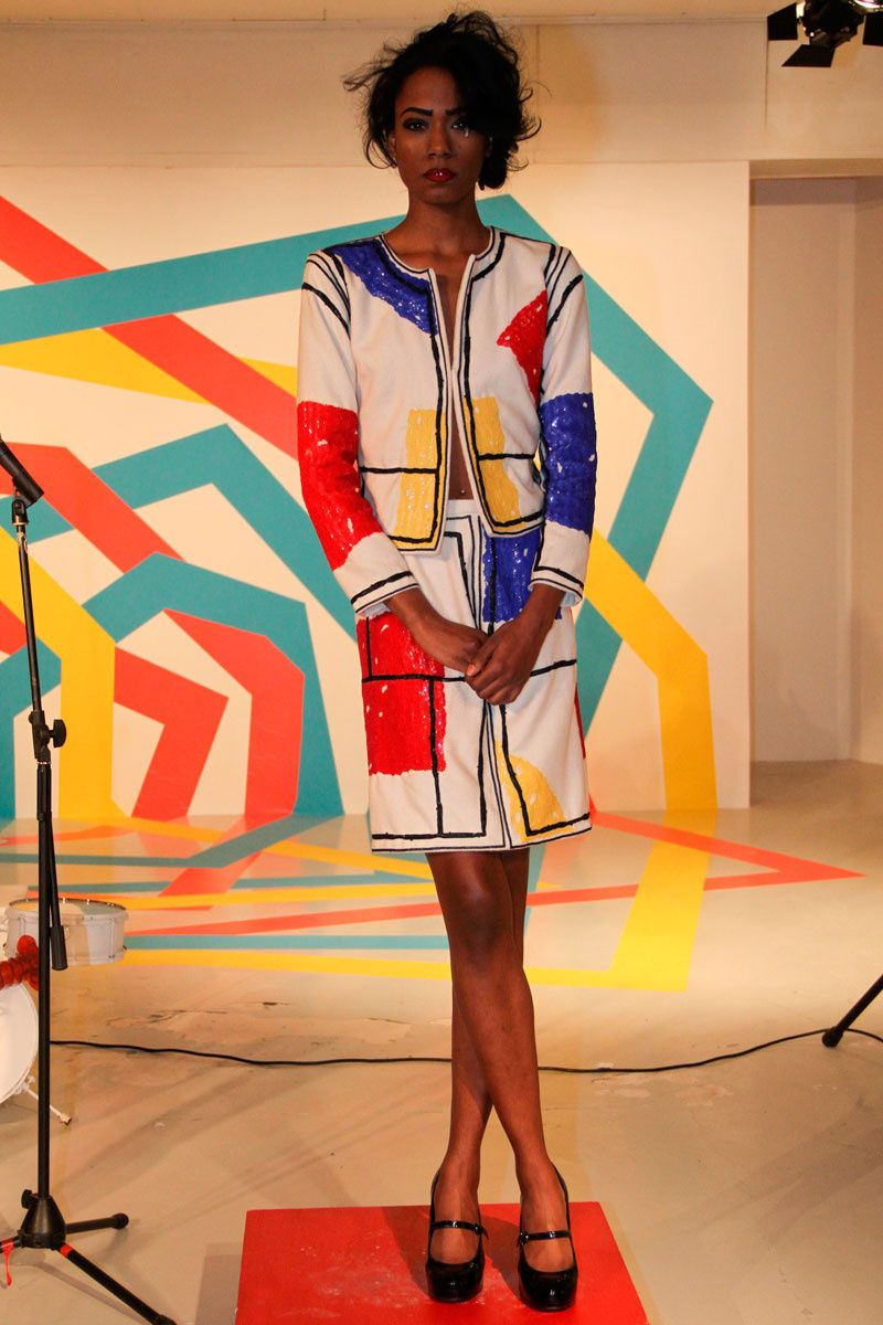 Très Geometric trend in fashion: Mondrian Inspiration | Mondrian  VN48