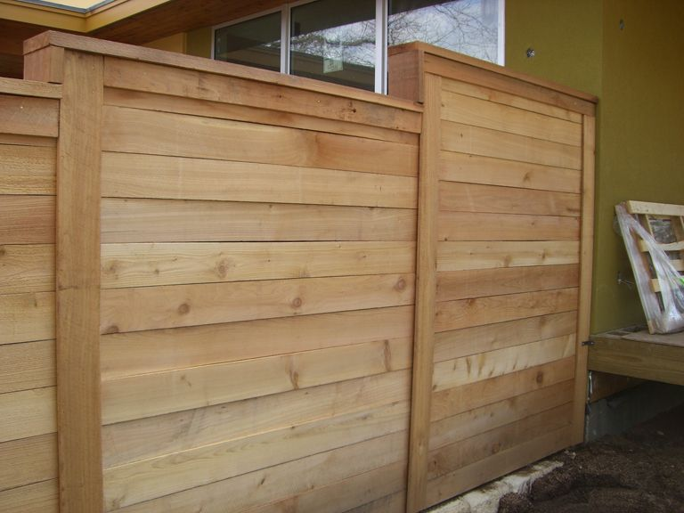 Fence Co Austin Tx Horizontal Plank Fencing Wood Fence Wood Fence Design Fence Design
