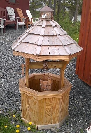 Octagon Wishing Well Plans For Things With Wood Wishing Well