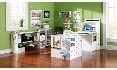 craft room furniture michaels. love this desk set up using michaelu0027s recollections cube organizers there is a full listing craft room furniture michaels r