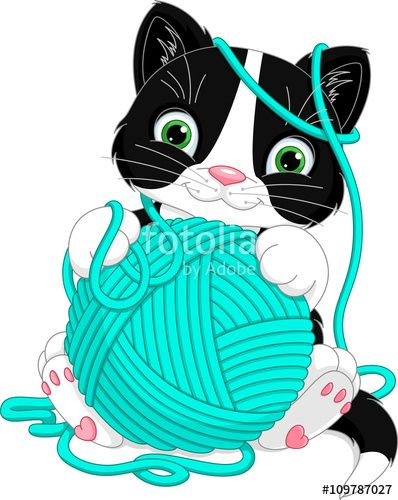Vettoriale kitten with yarn ball clipart pinterest withbr vettoriale kitten with yarn ball voltagebd Gallery