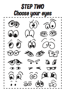 How To Draw Cartoon Faces Printable A4 Workbook Design The Dream Cartoon Faces Workbook Design Cartoon Drawings