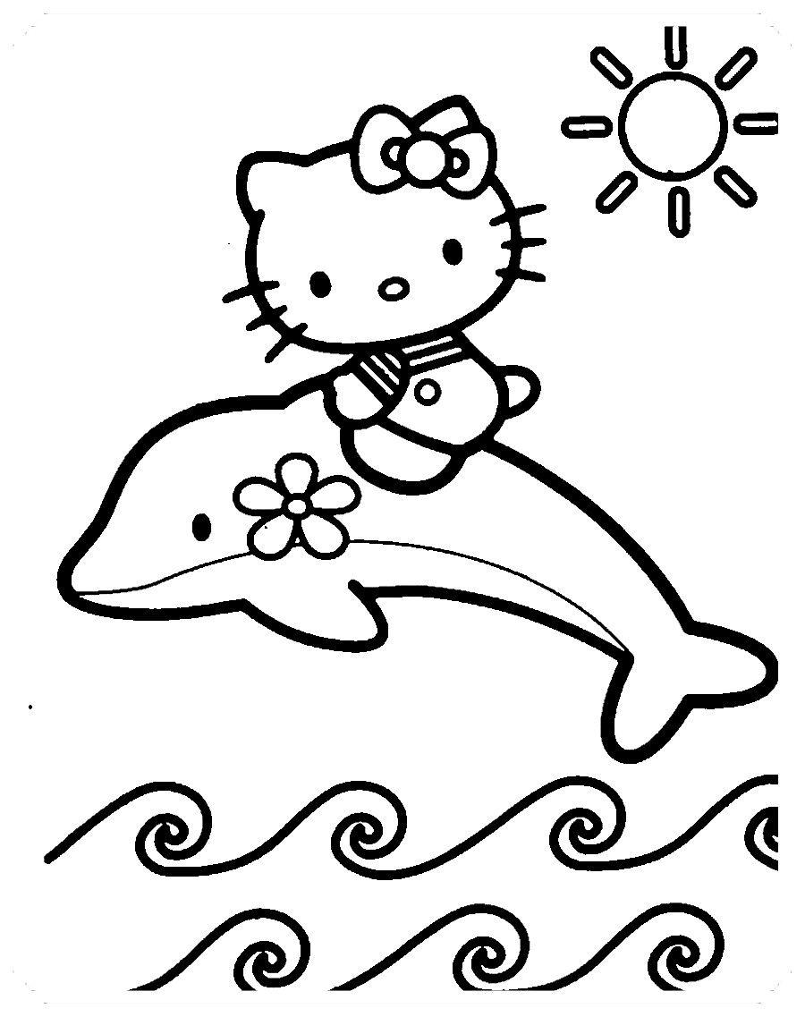 Los Más Lindos Dibujos De Hello Kitty Para Colorear Y Pintar