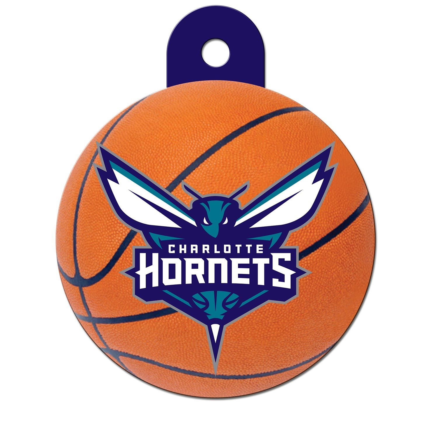 Quick-Tag Charlotte Hornets NBA Circle Personalized Engraved Pet ID Tag at PETCO