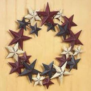 Barn Star Wreath Decor Wreaths Country Decor