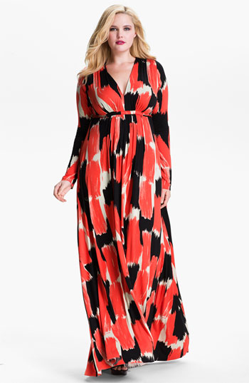 Maxi dress long sleeve plus size | Dresses | Pinterest | Caftans ...