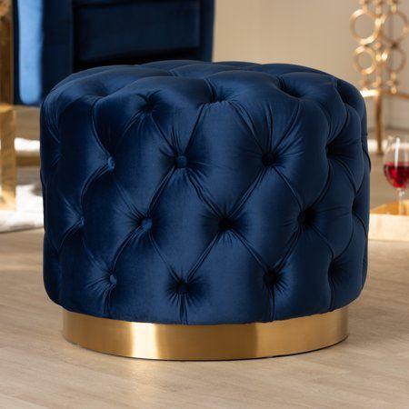 Sensational Home In 2019 Tufted Ottoman Blue Velvet Fabric Ottoman Customarchery Wood Chair Design Ideas Customarcherynet