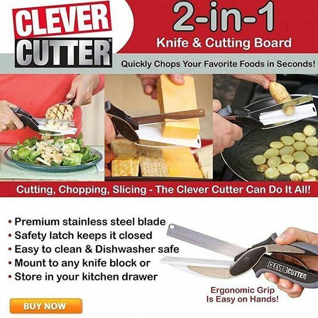 39 Ribu Clever Cutter 2in1 Papan Pemotong Dan Pisau Merupakan Hal Yang Pokok Di Dapur Ketika Anda Memotong Memindahkan Makanan Ke Panci Biasanya Akan