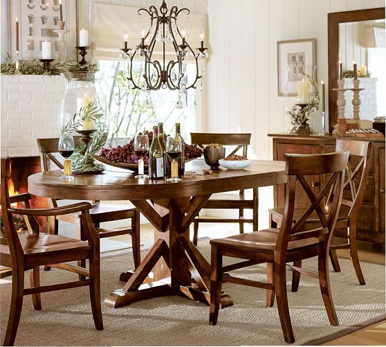 Benchwright Extending Pedestal Dining Table Pedestal Dining Table Dining Table Rustic Dining Room Table