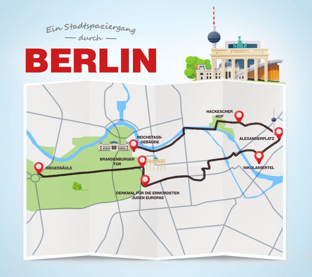 Stadtspaziergang Berlin Ausfluge Berlin Berlin Berlin Sehenswurdigkeiten Karte
