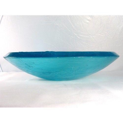 Fusion Glass Vessel Sinks    Ice Blue