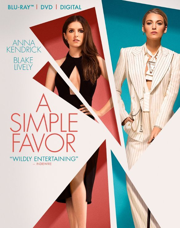 A Simple Favor [Includes Digital Copy] [Blu-ray/DVD] (Enhanced Widescreen for 16x9 TV) (English/Spanish) 2018 - Larger Front #feig