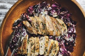 Grilled Herbed Chicken Breasts with Radicchio Recipe on Food52