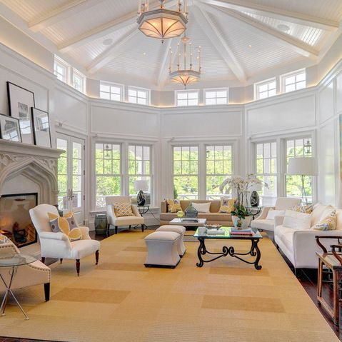 Octagonal Living Room Design Ideas Pictures Remodel And Decor Mansion Living Room Mansion Living Living Room Ceiling