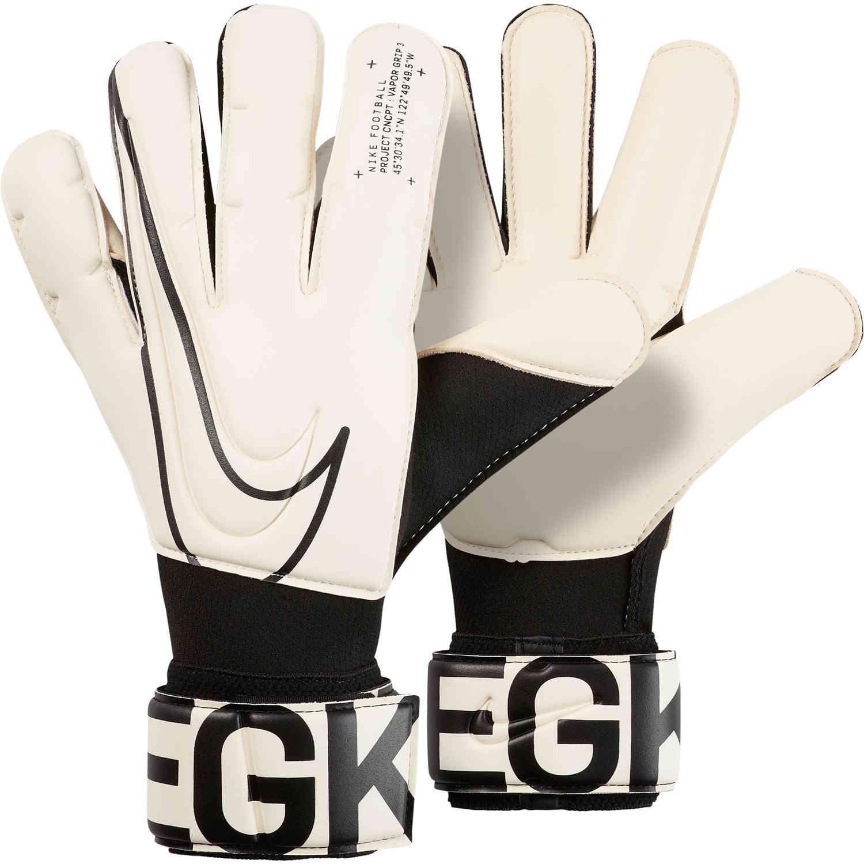 Nike Vapor Grip3 Goalkeeper Gloves White Black Soccerpro Gloves Goalkeeper Gloves Soccer Boots
