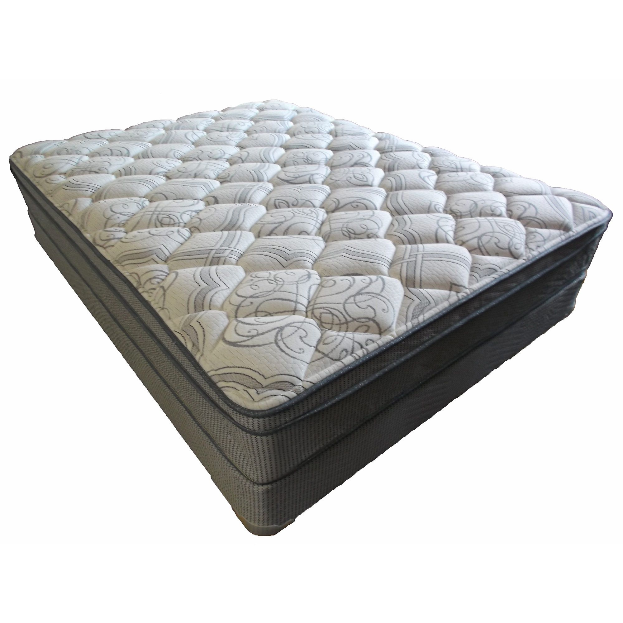 berkley jensen queensize euro pillowtop mattress set bju0027s wholesale club