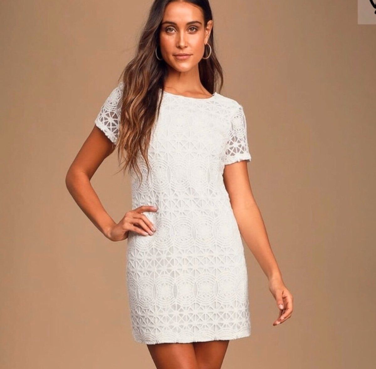 Lulus White Shift Dress Dresses White Shift Dresses Casual Summer Dresses [ 1178 x 1200 Pixel ]
