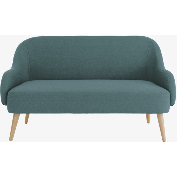 Momo Teal Blue Fabric 2 Seater Sofa 485 Liked On Polyvore Featuring Home Furniture Sofas Sofa Teal Blue Teal Sofa 2 Seater Sofa Seater Sofa Teal Sofa
